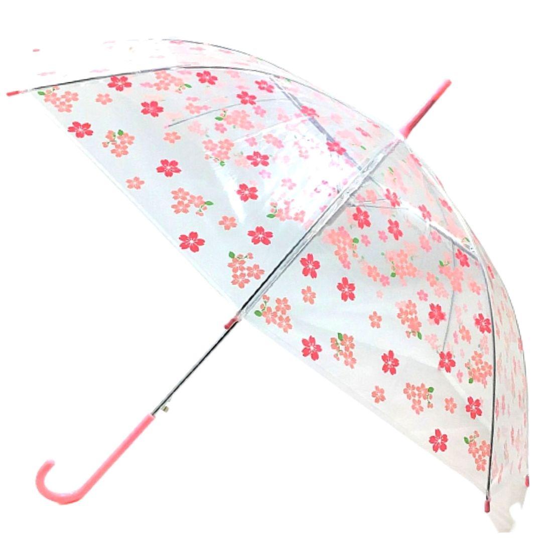 ビニール傘 桜 ピンク 水色 うさぎ 桜 かさ 雨 雨がさ ジャンプがさ 婦人 子供