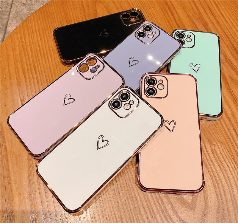ペアで持ちたいキュートなiPhoneケース★iPhone7/8~iPhone12Promaxケースカバー