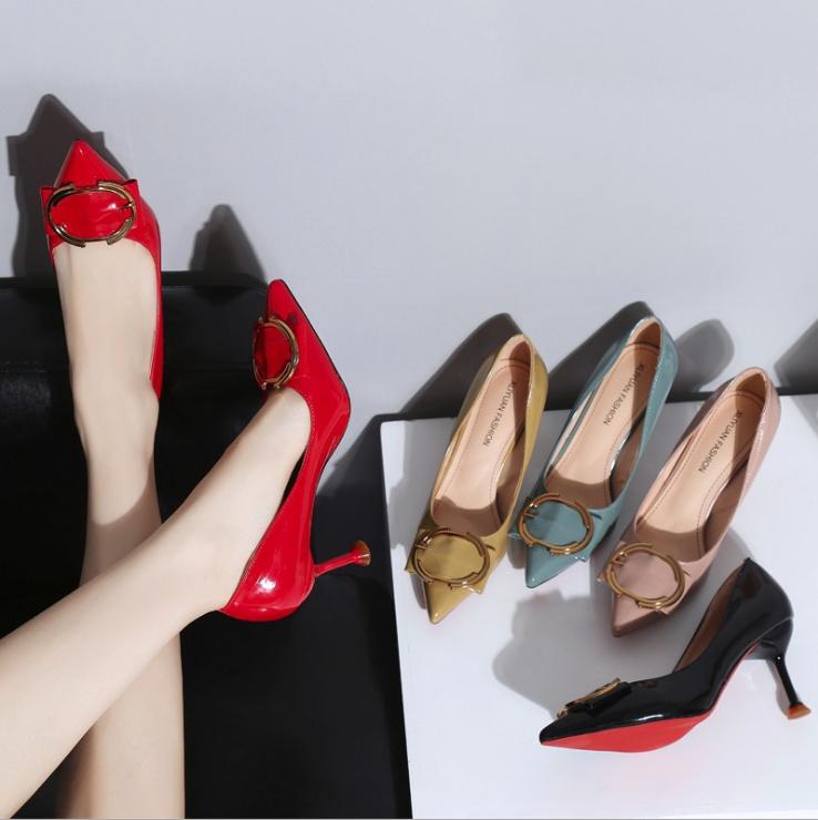 足にフィット!ピンヒール パンプス ハイヒール 韓国スタイル シューズ 靴 人気アイテム レディース