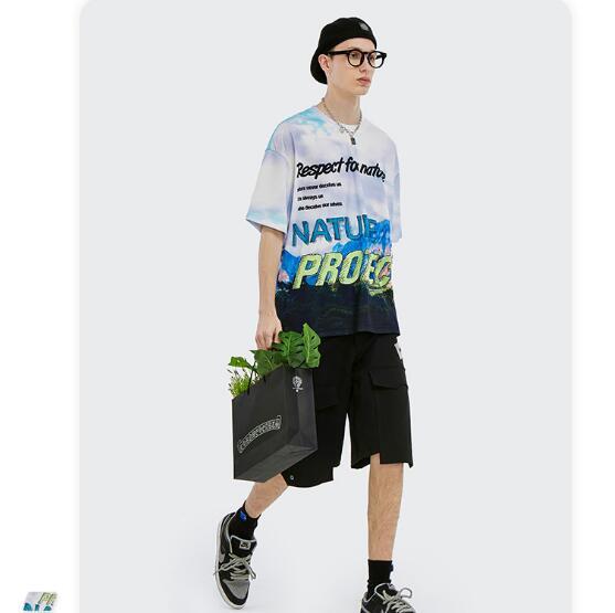 P10257 半袖Tシャツ スポーツ メンズファッション   男女兼用 ストリート系トップス 2021新作
