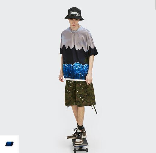P10261 半袖Tシャツ スポーツ メンズファッション   男女兼用 ストリート系トップス 2021新作