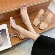 夏 新しいデザイン スリッパ アプリコット cm 細いヒール サンダル 靴 女 ハイヒー