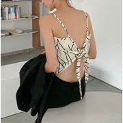韓国ファッション レディース アシンメトリー 変形キャミソールトップス