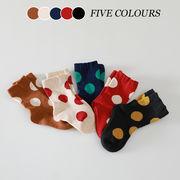 【KID】韓国風子供服 ベビー服 子供ソックス 靴下 スポット ドット 可愛い