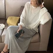 韓国ファッション おすすめ リラックスウェア Tシャツ×ワンピースセット