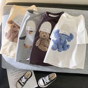 夏新作 子供 Tシャツ 人気 男の子 女の子  トップス  ブラウス 半袖 可愛い ファッション/90-140CM