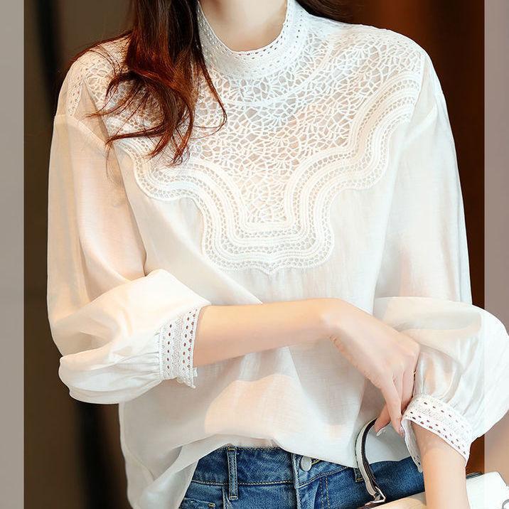 韓国風 春夏 Yシャツ 可愛い 上品 OL通勤用