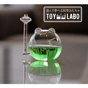 遊んで学べる科学おもちゃ 晴雨予報グラス ザ・フロッグ ウェザーリポーター