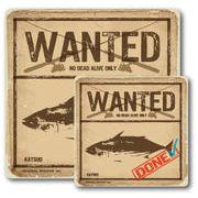 釣りステッカー カツオ 鰹 Cタイプ 2枚セット FS083 フィッシング ステッカー 釣り グッズ