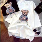 夏新作  Tシャツ  レディース  半袖  小さなクマ  韓国ファッション  学生  緩  半袖  トップス