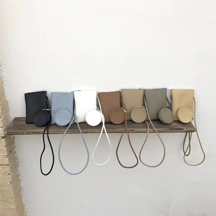 簡約 可愛い 軽便 ミニ 携帯電話のバッグ ツーインワン 百掛け ジッパー クロスボディ コインケース