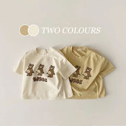 【KID】韓国風子供服  カートゥーンTシャツ 半袖 夏服 お熊さん 英字半袖