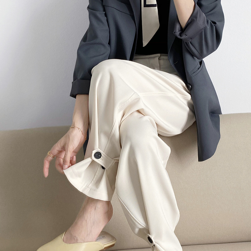 2021年春夏新作 レディース 韓国風 パンツ 無地 通勤 気質 ファッション 3色M-L