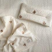 新発売★小さなクマ ブ6重のガーゼ毛布★ベビー赤ちゃん 新生児バスローブ ★135*85cm