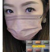 カラーマスク 不織布マスク 大人 三層構造 多色 使い捨て
