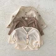 春夏新作 男女 0-1歳 ベビー服 上着 薄いジャケット カーディガン 紫外線対策コート 66-100