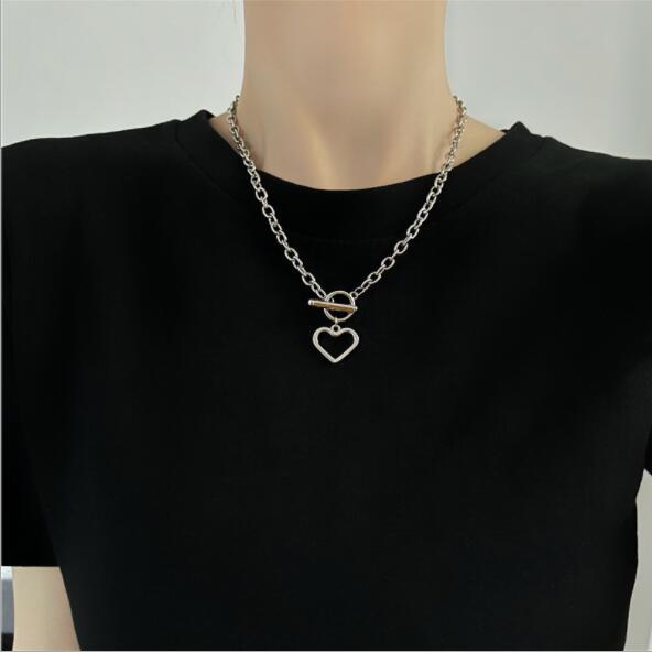 ネックレス シンプル 韓国ファッション アクセサリー レディース 金属