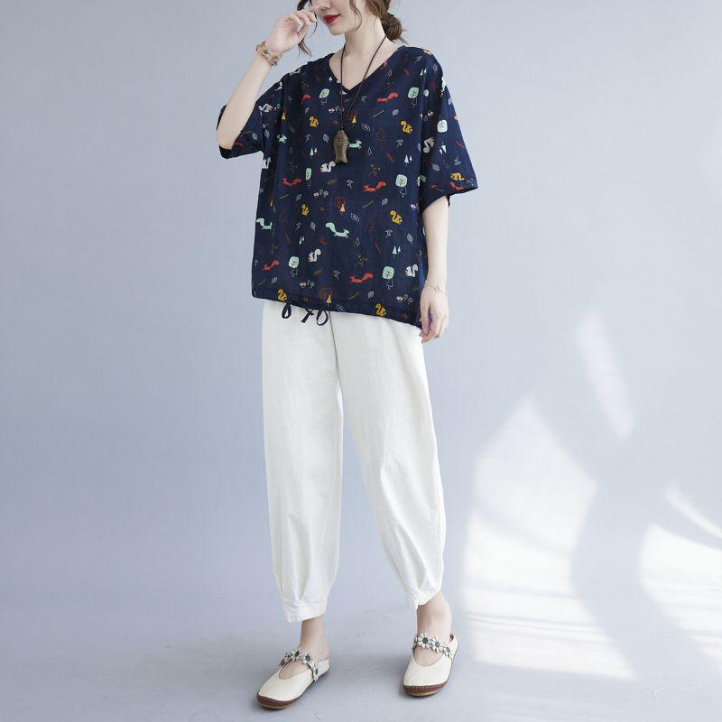 2021新作 レディース Tシャツ カットソー ふんわり オーバーサイズ 韓国風