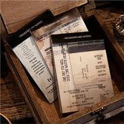 塩系文具 シール貼紙 手帳素材 封口貼 アンティーク シェイクスピア 幾何学ラベル 英文字 15枚入