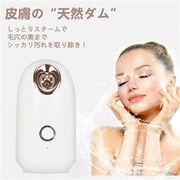 スチーマー美顔器 ナノケア イオンケア スチーム 顔美肌 保湿ケア クレンジング 熱噴霧 SPA家庭用