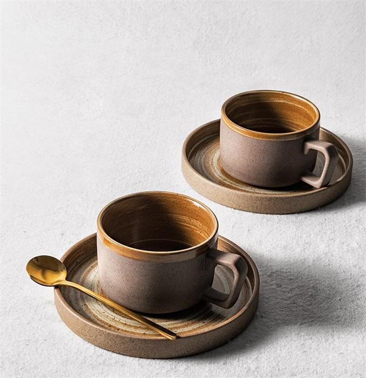 ファッション商品のキャンペーン 石器 コーヒーカップ&ソーサー 絶妙 ヨーロピアンスタイル