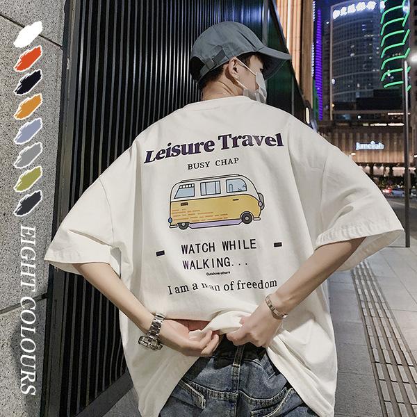 メンズトップス Tシャツ 半袖 カジュアル 大きいサイズ ストリート系☆全7色