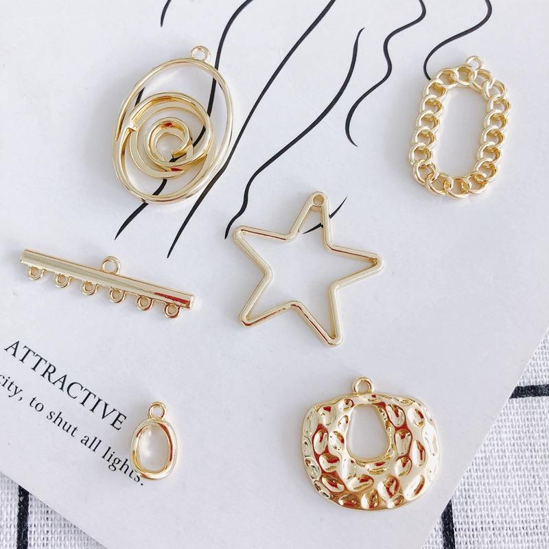 レジンフレーム レジン空枠 スター 星 オーバル ゴールド DIYパーツ 金色 アクセサリーパーツ ハンドメイド