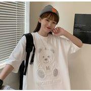 【海外買付】人気Tシャツv-f1f010a-6845【2020春夏新作】レディース/熊図案/カワイ/少女