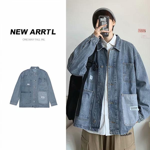 2021新品 メンズ デニムジャケット シャツ  カジュアル 大きいサイズ ストリート系☆