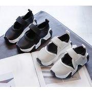 【子供靴】カジュアル系スニーカー メッシュ 春秋 男女兼用 全2色 子供靴 ベルクロ キッズ靴