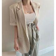 カジュアル エレガント シンプル 大人気 ゆったりする 韓国 半袖 スーツ コート