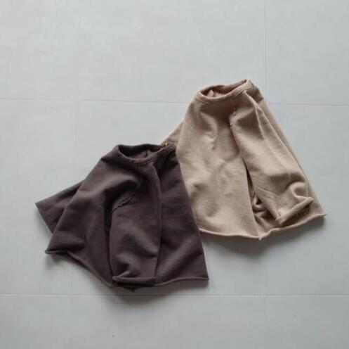 キッズ 秋新作 ファッション 女の子 男の子 oversize  長袖 無地 Tシャツ カジュアル系