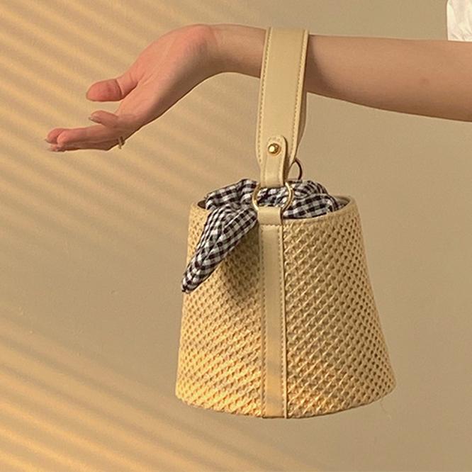 【Women】2021年春夏新作  韓国風レディース服  織りバック 可愛いミニサイズ カジュアル