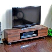 テレビ台 ローボード 115cm幅 木製 ブラウン テレビラック AVボード