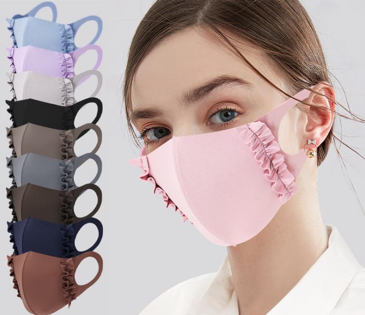 夏マスク 防塵 通気 レディース 水洗 洗えるマスク UVカット 接触冷感 3D立体構造 冷感
