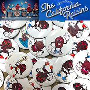 【California Rasins】 デッドストック カリフォルニア・レーズン 缶バッジ アソート 10セット