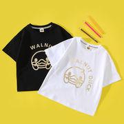 【KIDS夏服】韓国風子供服 半袖Tシャツ 韓国ファッション 男女兼用 アルファベット ルームウェア