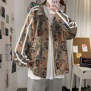 ユニセックス ジャケット 個性派 おしゃれ ゆったり 大きいサイズ 秋冬