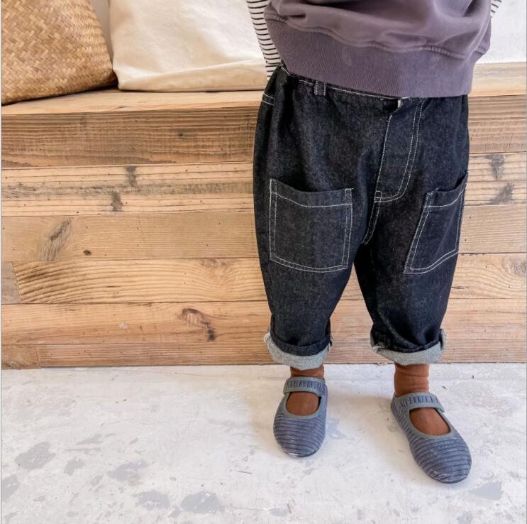 子供服 パンツ ズボン キッズ 子ども 秋 デニム シンプル カジュアル トレンド 人気