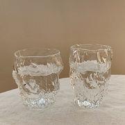 INSスタイル シンプル 牛乳カップ ガラス 家庭用 可愛い ビアグラス