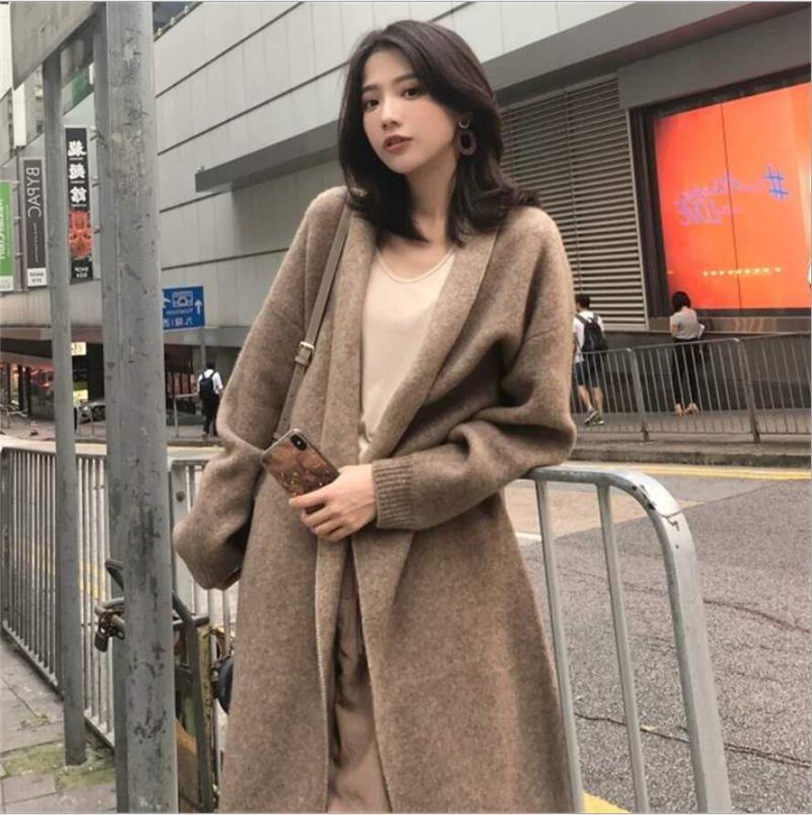 秋冬新作 新しいデザイン 韓国風 ニットコート 女 カーディガン 何でも似合う