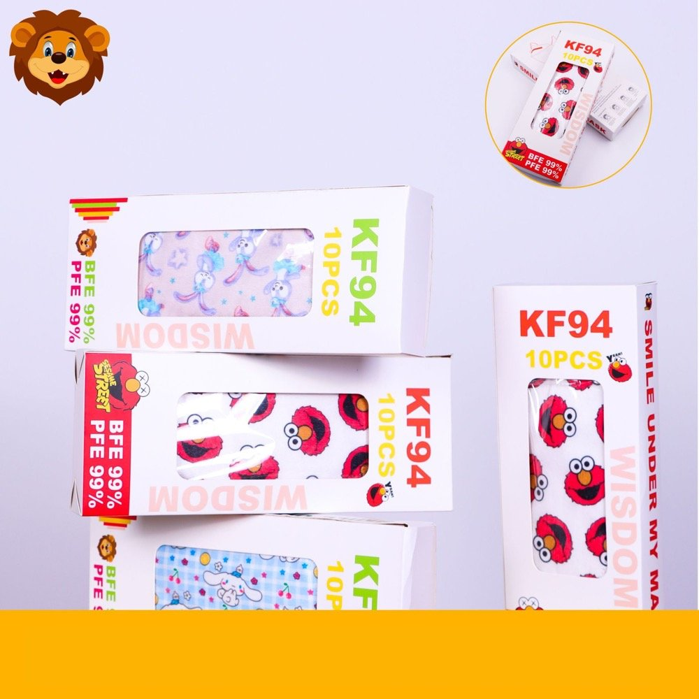 4層マスク 不織布マスク KF94 キャラクター 飛沫防止 感染対策 ほこり 花粉ガード 大人用