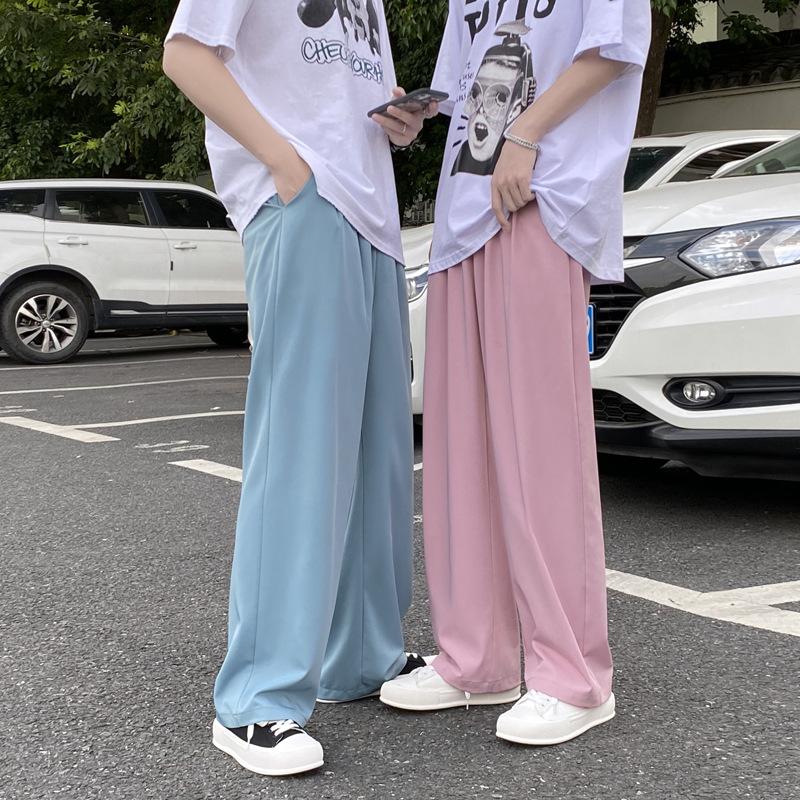 【2021秋冬新作】韓国 カジュアル 大きいサイズ メンズ ストレートパンツ ワイド