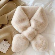 マフラー 起毛 ボア フェイクファー 保温 あったかい 秋冬新作 韓国ファッション レディース