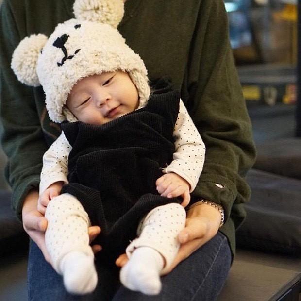 秋冬韓国の子供帽子★熊の耳当てニット帽★ベビーニット帽