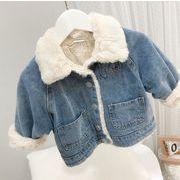 デニムコート キッズジャケット 普段着 長袖 子供服 厚手コート キッズ 日常用