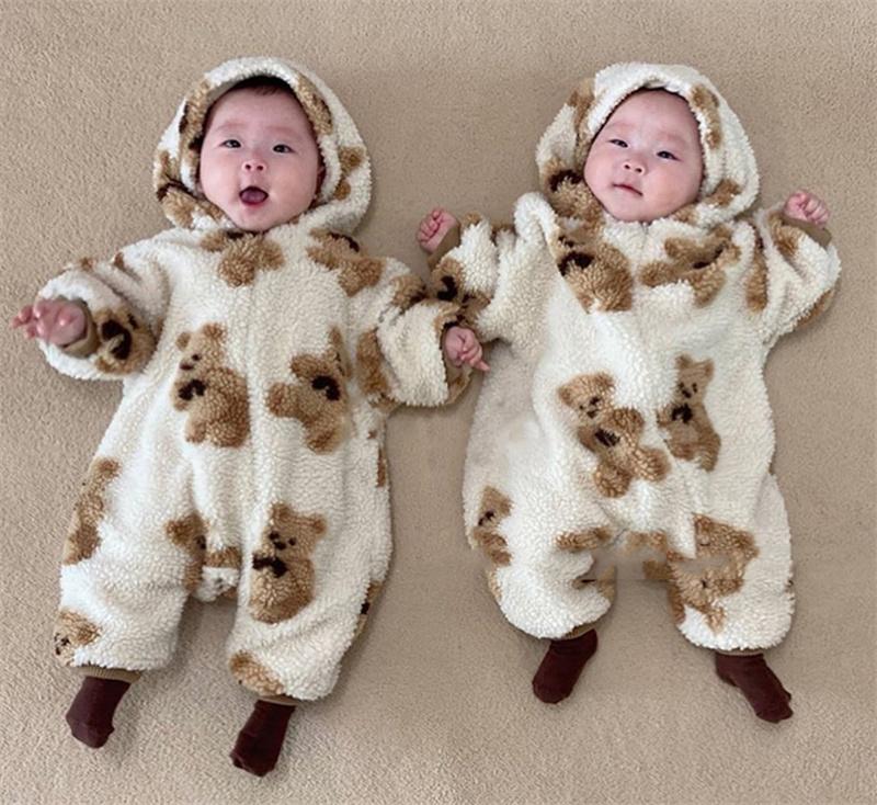 オールインワン ベビー服 カバーオール 子供服 もこもこ ジャンプスーツ