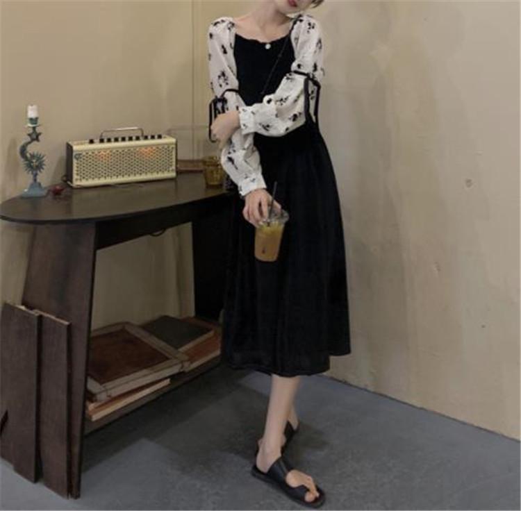 大人の甘辛ファッションを作ろう ワンピース ブラック 気質 新作 ジェントルスタイル スリム トレンド