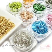 ガラス製 竹ビーズ グラス シードビーズ 5~6mm 13色 5g beads999