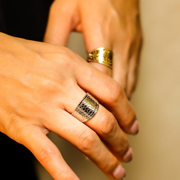 ボヘミアンリゾート リング クロコダイル フリーサイズ 指輪 ステンレス 金属アレルギー対応 インスタ